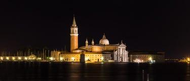 Nachtansicht von San Giorgio Island, Venedig, Italien Lizenzfreies Stockbild