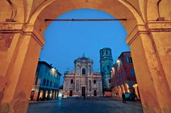 San Prospero Kirche, Reggio Emilia Stockbilder