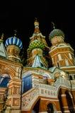 Nachtansicht von St. Basil Cathedral Stockbild