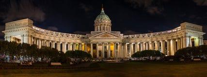 Nachtansicht von St Petersburg stockfotografie