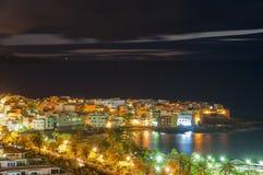 Nachtansicht von Teneriffa Lizenzfreie Stockfotografie