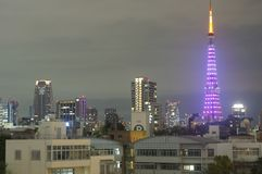 Nachtansicht von Tokyo-Turm, Japan stockfoto