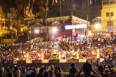 Nachtansicht von Varanasi von Stockfoto