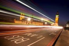 Nachtansicht Westminster-, London lizenzfreie stockbilder