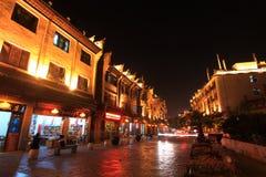 Nachtansicht in zhenyuan alte Stadt in Guizhou-Porzellan Stockfoto