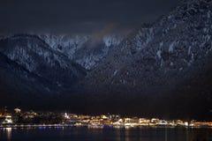 Nachtansichten von Achensee und von Pertisau von Maurach, Österreich Stockfotografie