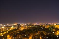 Nachtansichten von Rostov-On-Don, Russland Lizenzfreie Stockfotos