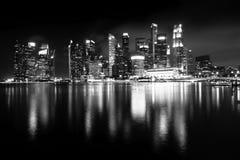 Nachtansichten von Singapur, Marina Bay-Panorama lizenzfreies stockfoto