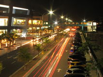 Nachtansturm stockfoto