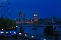 Nachtaufnahme Big Ben Stockfotografie