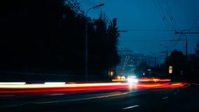 Nachtautolichter stock video footage