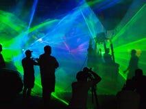 Nachtballon-Show, NaÅ-'Ä™czÃ-³ w, Polen Lizenzfreie Stockfotografie