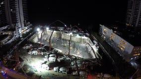 Nachtbaustelle Sunny Isles Beach FL 4k stock footage