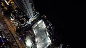 Nachtbaustelle Sunny Isles Beach FL 4k stock video footage