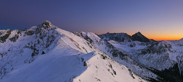 Nachtberg - Tatras bij de winter Royalty-vrije Stock Foto