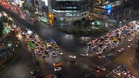 Nachtbeschäftigter Schnitt Südkoreas Seoul Gangnam stock video footage