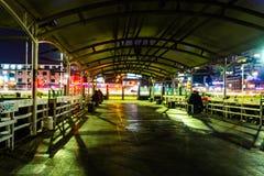 Nachtbewegung der Stadt Lizenzfreies Stockfoto