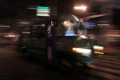 Nachtbewegungsunschärfe Lizenzfreies Stockfoto