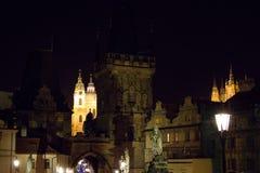 Nachtbild des Prag-Stadtzentrums Lizenzfreie Stockfotografie