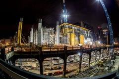 Nachtbouwwerf Stock Foto's