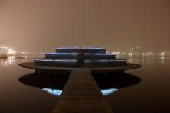Nachtbrücke Lizenzfreie Stockfotos