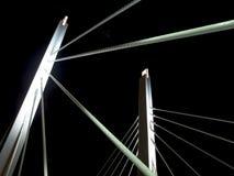 Nachtbrücke Lizenzfreies Stockfoto