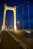 Nachtbrücke stockbild