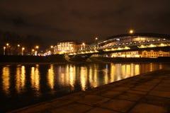 Nachtbrug Royalty-vrije Stock Fotografie