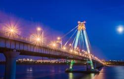 Nachtbrug Stock Afbeeldingen