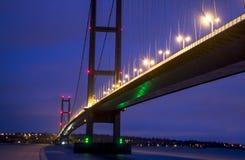 Nachtbrug Royalty-vrije Stock Afbeeldingen