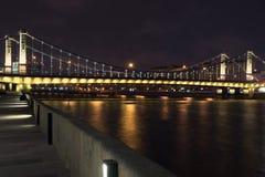 Nachtbrug Royalty-vrije Stock Foto's