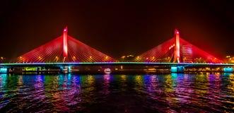 Nachtbrug Stock Foto's