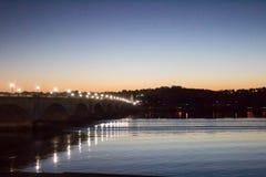 Nachtbrug Royalty-vrije Stock Foto