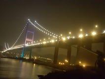 Nachtbrug Stock Afbeelding