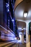 Nachtbusbahnhof Stockbild