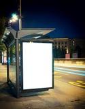 Nachtbusstation Royalty-vrije Stock Afbeeldingen