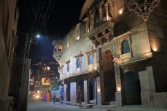 Nachtcityscape in Jodhpur India royalty-vrije stock afbeelding