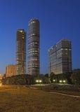 Nachtcityscape, Moskou stock afbeeldingen