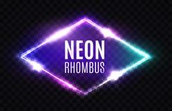 Nachtclub-Neon-Raute Licht-Zeichen der Rauten-3d Stockfoto