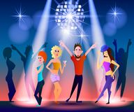 Nachtclub, Parteien Leute, die Spaß haben Stockfotos