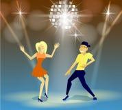 Nachtclub, Parteien Leute, die Spaß haben stock abbildung
