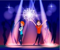 Nachtclub, partijen Mensen die Pret hebben Royalty-vrije Stock Fotografie