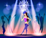 Nachtclub, partijen Mensen die Pret hebben Stock Foto's
