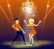 Nachtclub, partijen Mensen die Pret hebben Stock Fotografie