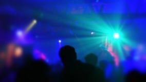 Nachtclub-Partyszene stock footage