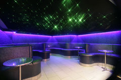 Nachtclub-Sitzbereich Lizenzfreies Stockbild