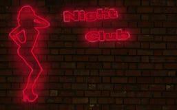 Nachtclubneon lizenzfreie abbildung