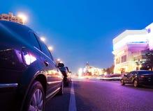 Nachtclubs en auto Stock Foto's