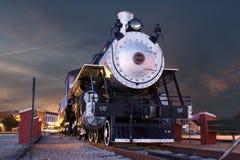 Nachtdampfzug Stockfotografie
