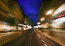 Nachtdatenbahn stockfotografie